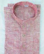 Buy Indian Khadi Pink Color Short Men's Kurtas online