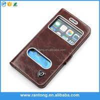 simple design top quality Crystal Grain leather Phone Cover Case for iphone 6s
