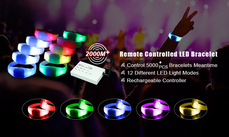 2017 Newest LED Party Supply Wholesale Light Remote Controll Led Bracelet