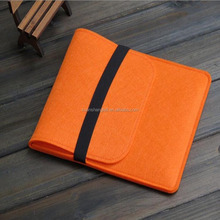 Fashion handmade orange color felt laptop cases for girls
