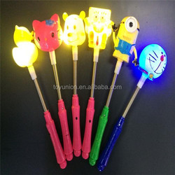 Party gift led flashing light stick cartoon led stick custom led light stick