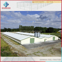 Customized poultry house design steel structure chicken farm pre fabricated buildings