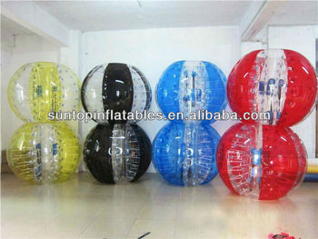 color inflatable body zorb ball for adult and kids