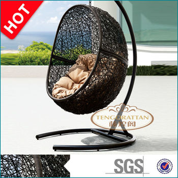 Perth cocoon outdoor hanging egg chair with cushion(Y9068KD)