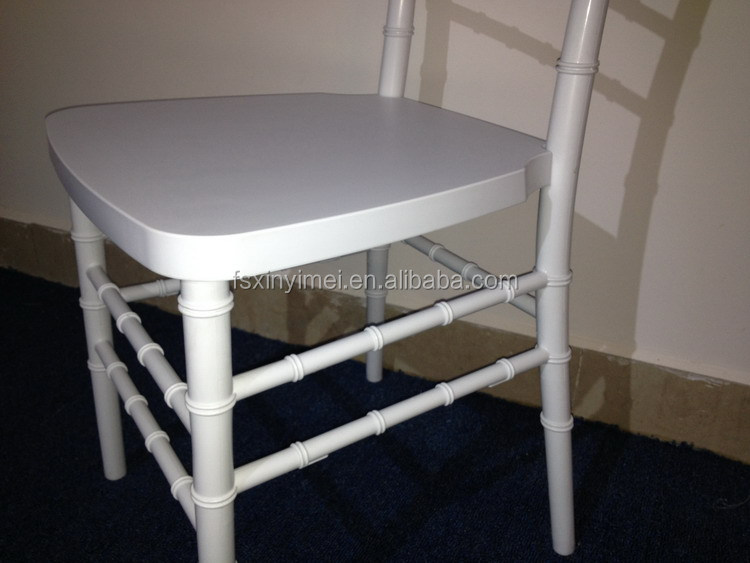 popular resin white antique stacking chiavari chair for wedding