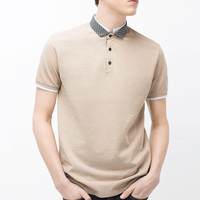 Polo Collar Clothing and Short Sleeve Polo T Shirt 100% egyptian cotton shirts