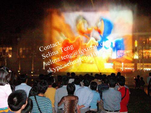projection water screen movie/film
