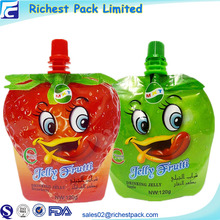 Hot sale baby food packaging pouch 150ml liquid stand up pouch with spout for juice