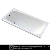 Cheap Cast Iron Porcelain Enamel Corner Drop in Bathtub (CZ-J027)