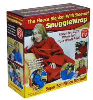 Super Soft Cozy Fleece Blanket With Sleeves One Size Fits All