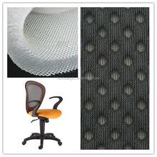 Polyester mesh fabric for chair with warp knitted 3d