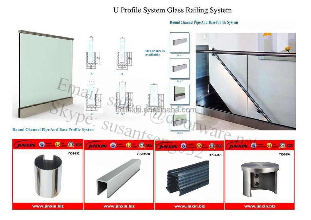 edelstahl rahmenlosen glas balkon u profil aus glas gel nder br stung und gel nder produkt id. Black Bedroom Furniture Sets. Home Design Ideas