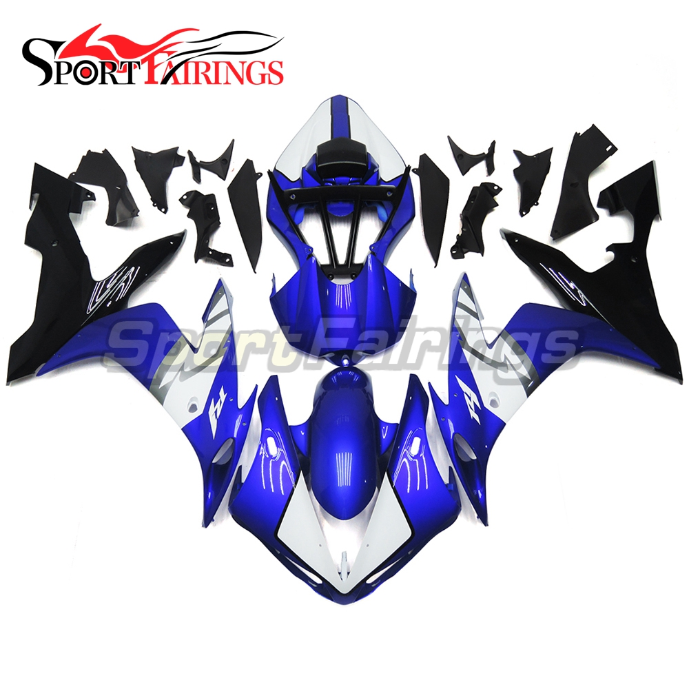 Plastic Full Fairings For Yamaha YZF <strong>R1</strong> 04 05 06 ABS Injection Motorcycle Fairing Kit Blue White Body Kits