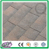 Decoration of slope roofing waterproofing coloured glaze bitumen shingle roof made in China