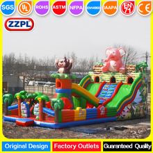 ZZPL giant jungle zoo inflatable amusement park for children, cheap inflatable indoor playground on sale