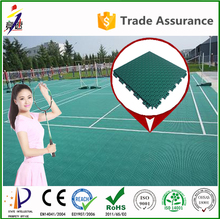 CE Standard Good environmental outdoor double layer synthetic badminton court flooring