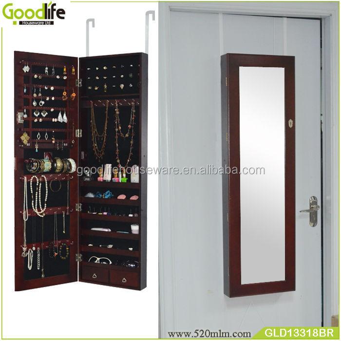 holzwand montiert schmuck spiegel schrank holzschrank produkt id 503991317. Black Bedroom Furniture Sets. Home Design Ideas