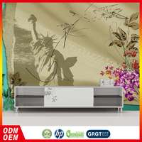 new York city Statue of Liberty design cheap wall mural living room 3d wallpaper from china factory