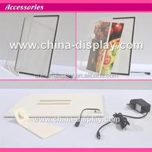 White colour acrylic frame tabletop laser LED lighted sample of advertisement product