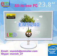 23.8 inch LED 1080P All In One PC,J2900 CPU desktop computer