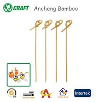 Event & Party Supplies food floral knotted decorative bamboo party picks