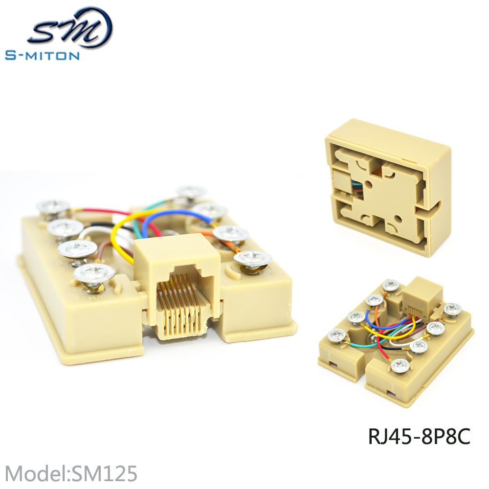 Excellent quality and reasonable price rj45 terminal block 8p8c junction box