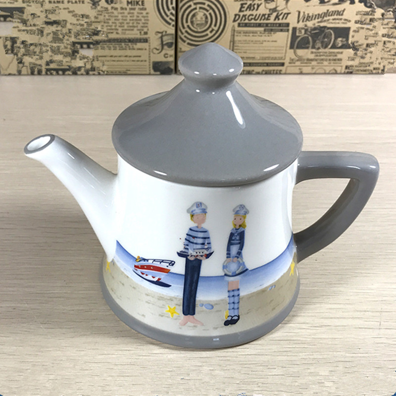 cheap bulk support custom customer logo ceramic teapot