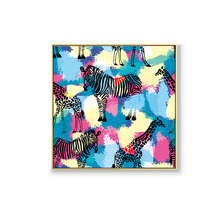 High quality fashion abstract zebra oil painting painted on canvas