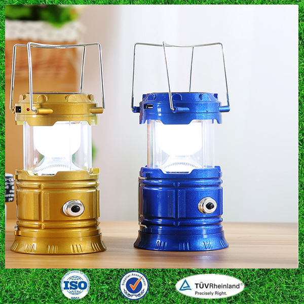 Li battery led solar lantern with mobile phone charger,solar camping light