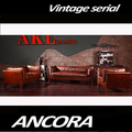 Classic design sofa wood legs red leather sofa A130