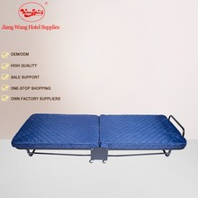 Hot Selling Folding Metal Bed with Wheels, Extra Single Rollaway Bed