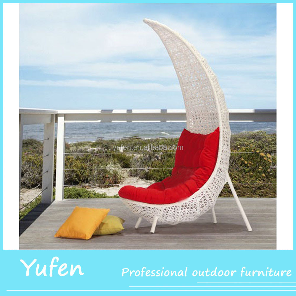 Modern garden furniture outdoor fashionable moon chair