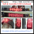Fashion Xuancai's soft LED Watch with red Color LED SMD Watchband p3.6mm