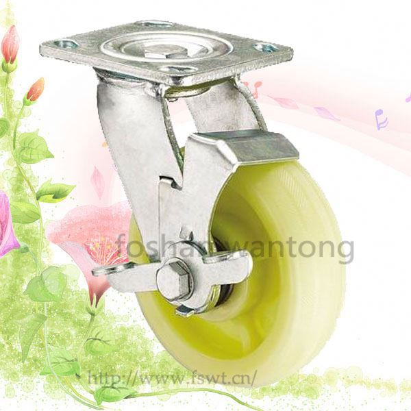 8 Inch White Swivel caster mold on cast iron wheel