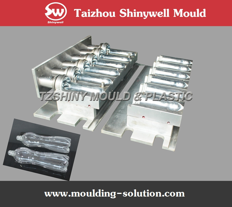 six cavity pet plastic bottle blow mould for 1 litter mineral water