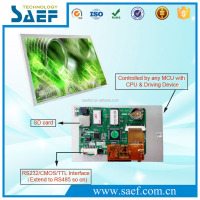 7 inch LED backlight module 800x480 pixels tft lcd monitor with USB touchscreen for industrial control