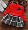 Hot Selling cheap price china factory direct sale kids baby girl winter party children lattice dresses