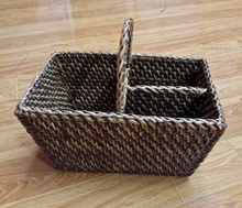 Hand Knitting Rattan Flatware Caddy