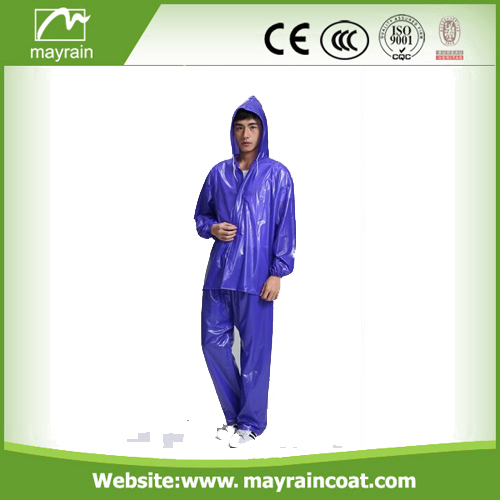 Top quality waterproof customized logo printed rainsuit