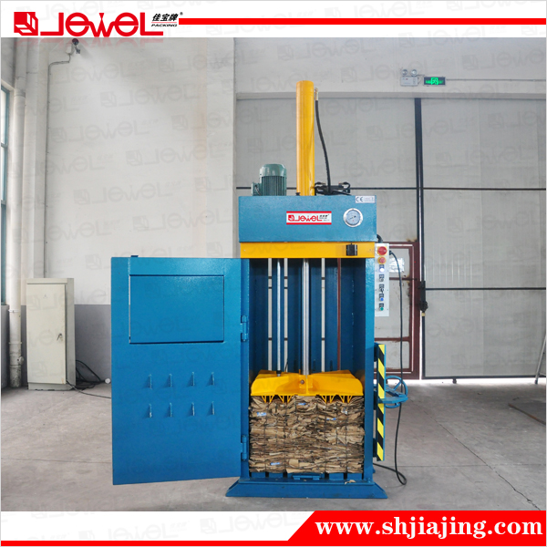 Vertical Hydraulic cardboard box baling press/ scrap paper baler/ waste carton bale press machine