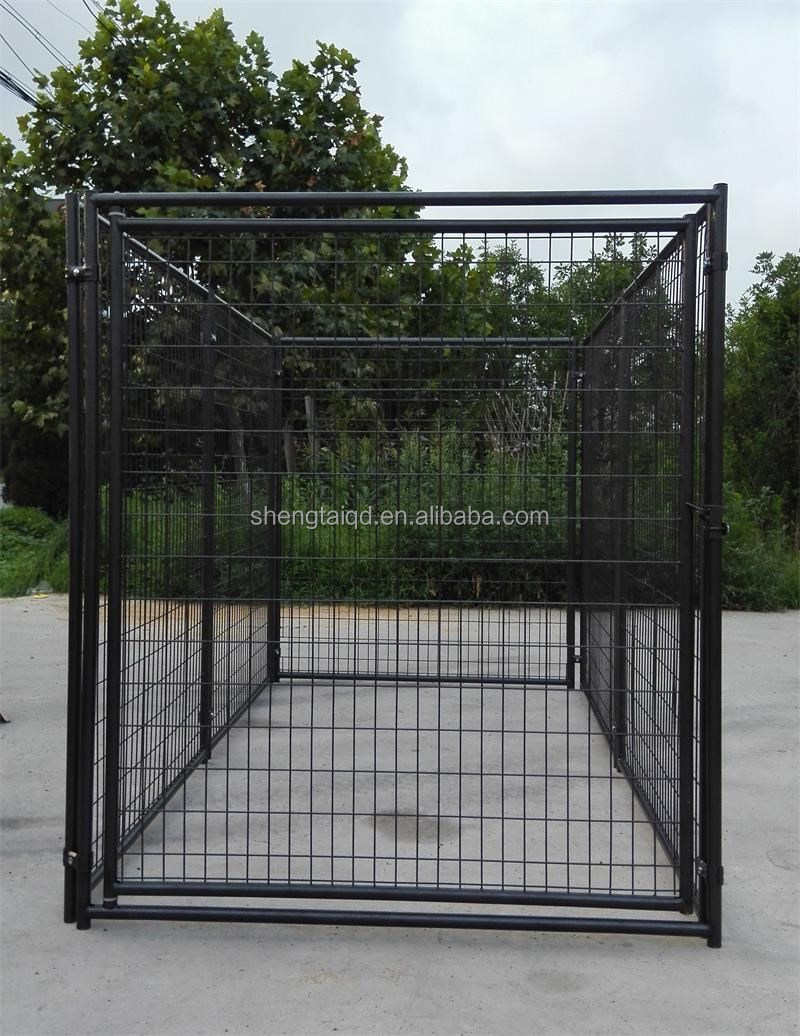 factory direct wholesale high quality wire mesh dog cage/ chain link dog kennel