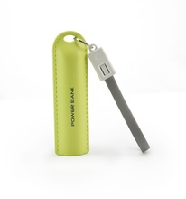 Best price wholesale led light power bank 2600mah with special hanging cable