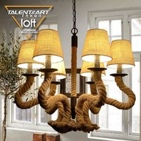 SpringBud Lamp E14*6 home decoration warm modern american style candle chandelier lights CY-DD-203