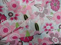 CVC 55/45 polyester cotton poplin fabric,flower print poplin fabric,polycotton poplin fabric