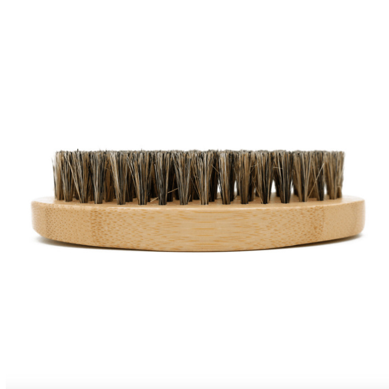 FQ brand wholesale custom logo boar hair bristle round beard brush for men