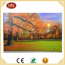 modern light up canvs wall art autumn landscape canvas prints with LED