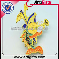 Newest style colorful metal gold decorative pin badge