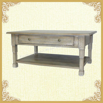 Home decorative vintage country style wooden TV table for parlour