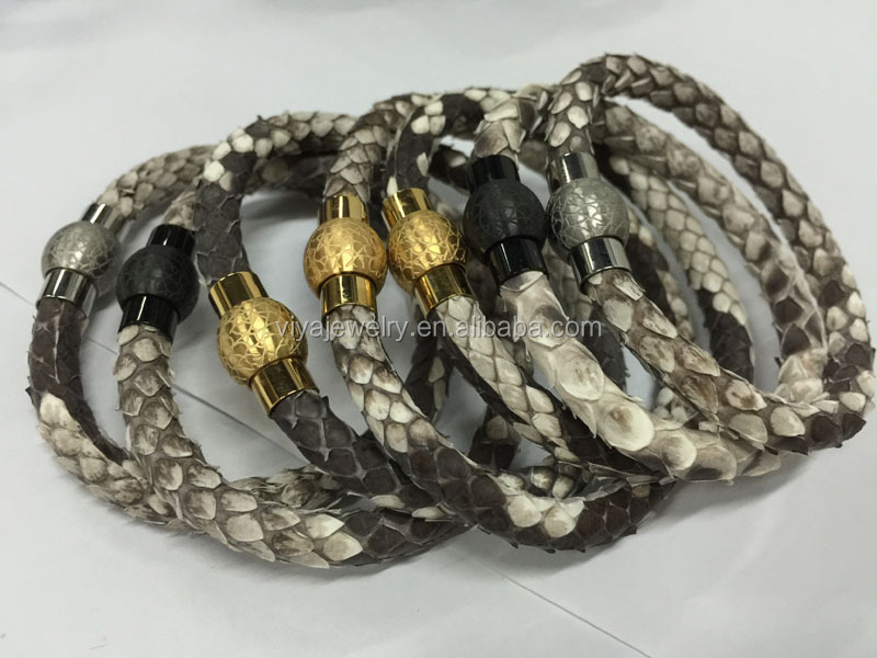 Genuine leather cord with Luxury fashion jewelry leather bracelet and women stingray leather bracelet