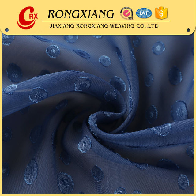 Latest design special polyester clip dot chiffon fabric